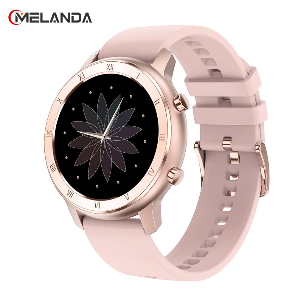 Full Touch Smart Watch Women IP68 Waterproof Bracelet ECG Heart Rate Monitor Sleep Monitoring Sports Smartwatch For Ladies