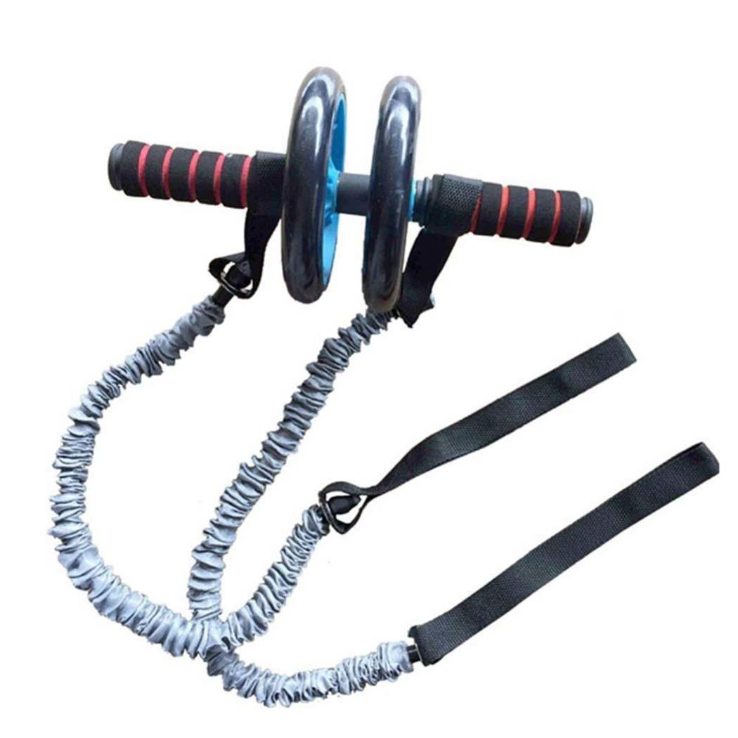 Exercise Trainer Belly Wheel Roller Elastic Resistance Sport Ropes Ropes(Without Roller) Fitness Gym Equipment