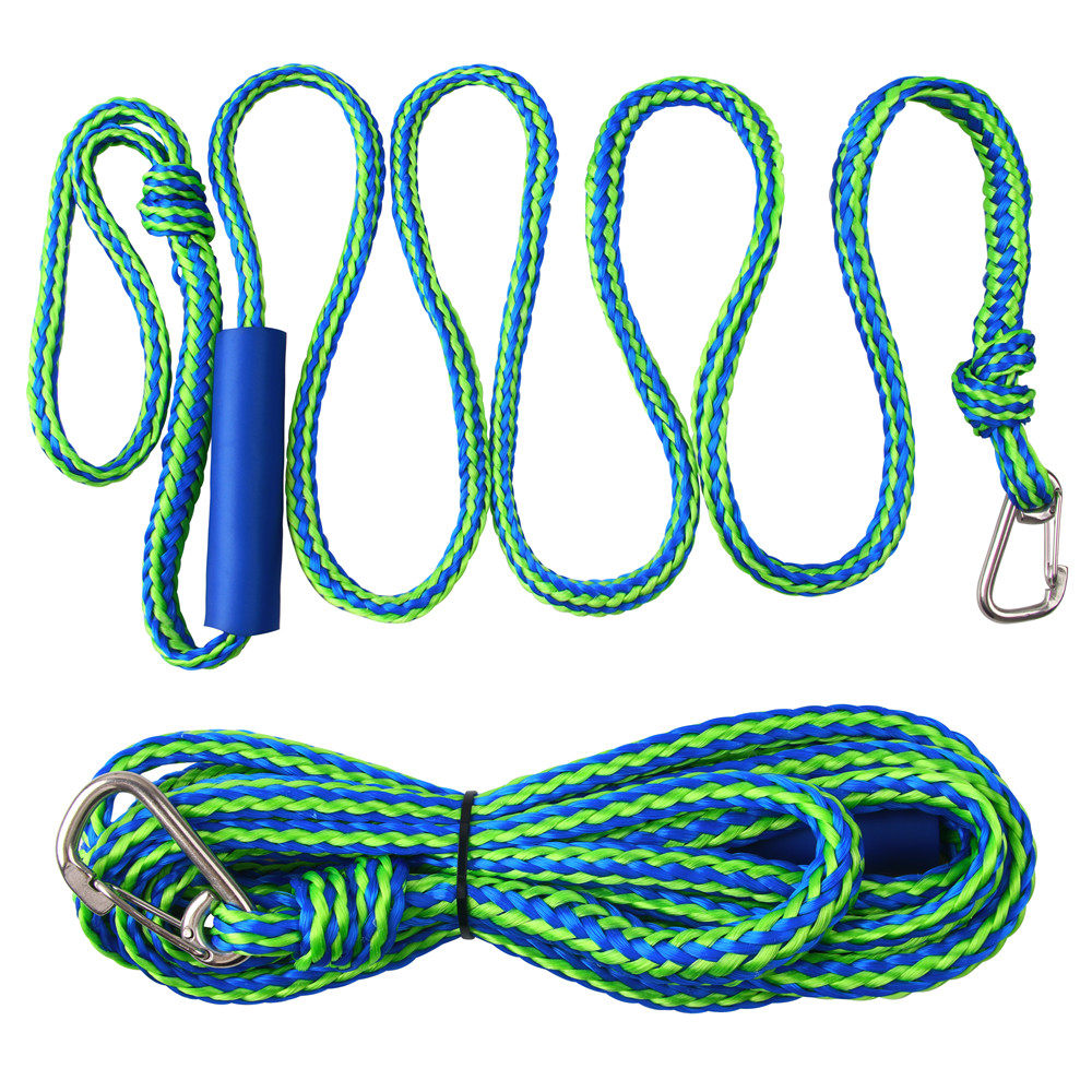 Premium Dock Lines Heavy Duty Braided Line Marine Rope For Jet Ski, Watercraft Boat, Kayaking, Marine Ropes With Stainless Clip