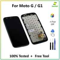 For Motorola G G1 LCD Display Touch Screen With Frame Digitizer Assembly Replacement Parts + Tools For Moto G XT1032 XT1033 LCDs
