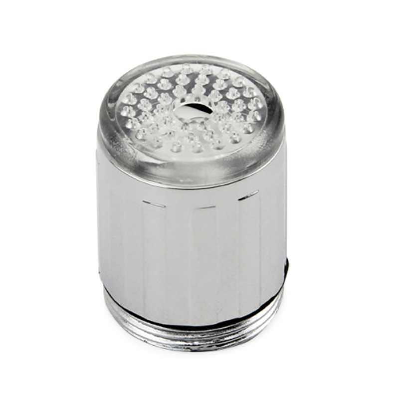 LED robinet d'eau lumière colorée changeante lueur pomme de douche cuisine robinet aérateurs