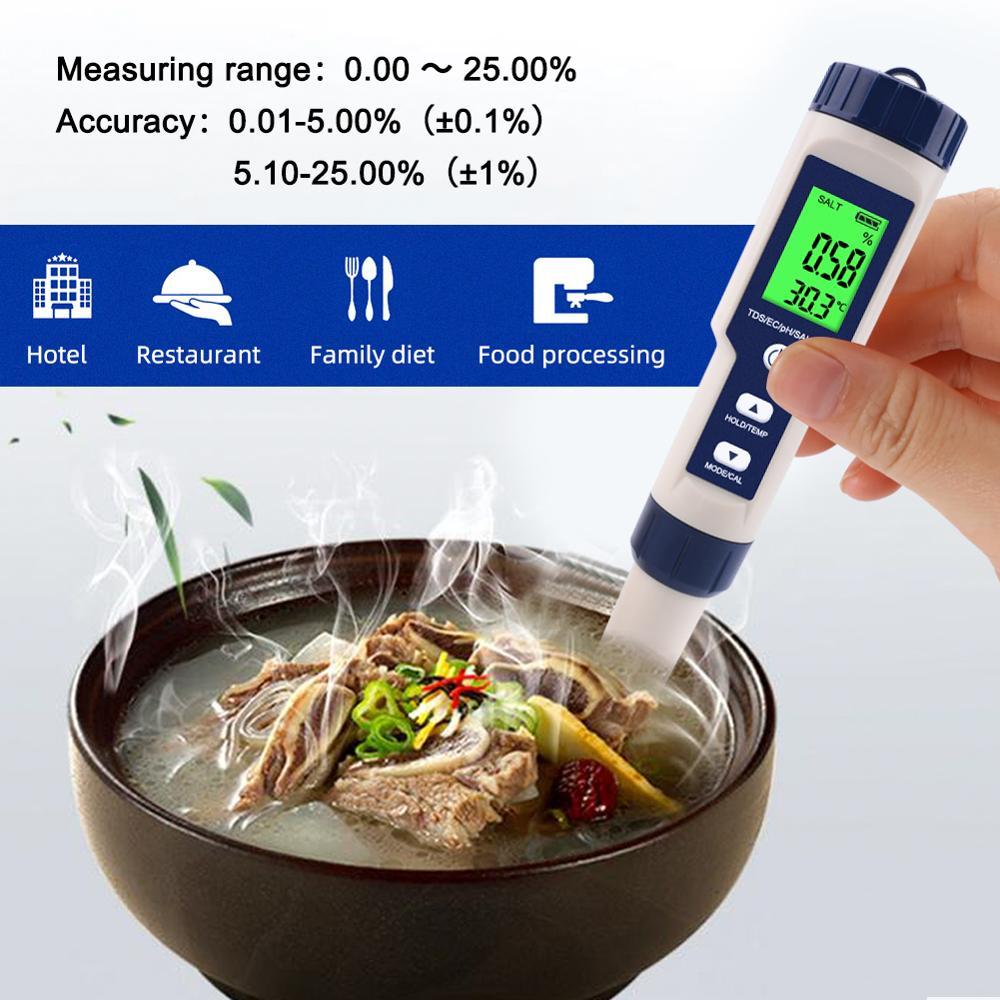 High-precision Digital Kitchen Sea Water Salinity Meter, Salt Concentration Meter, Salimeter For Food, Farming, Fish Pond,Soup