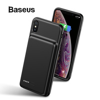 Baseus Battery Charger Case for iPhone Xs Max XR Xs Power Bank Skin friendly Silicone for iPhone Powerbank External Battery Pack