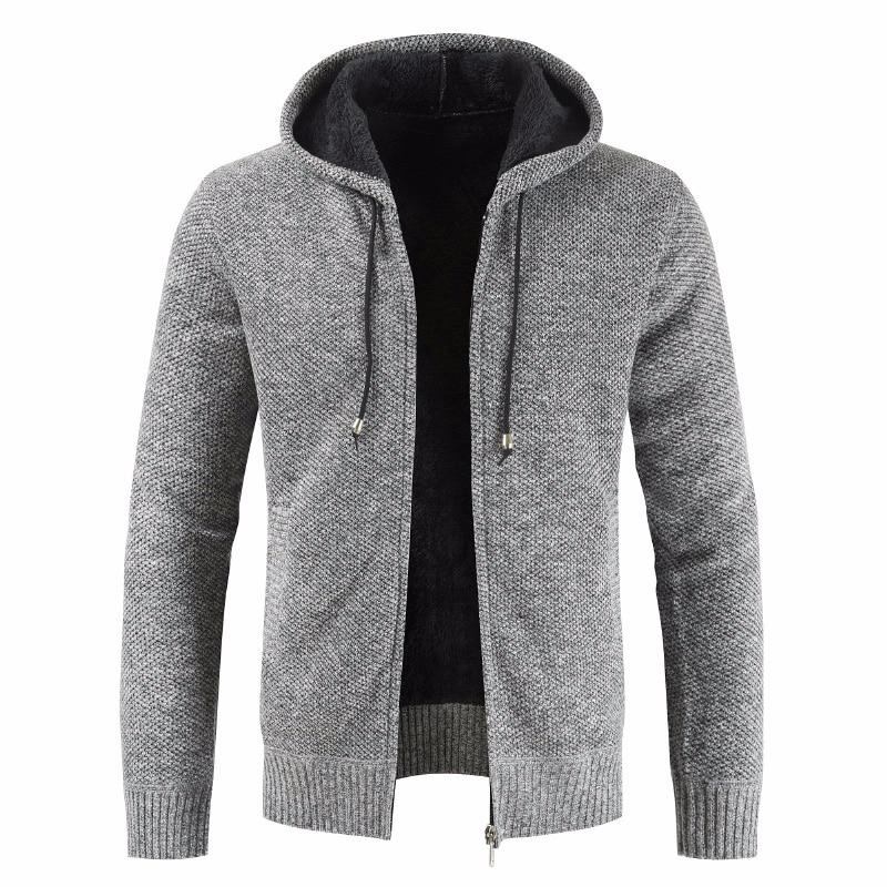 Men New Autumn Brand Thick Casual Cotton Hat Sweater Cardigan Men Winter Fashion Knitwear Outwear Warm Sweater Jumper Coat Men