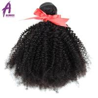 Mongolian Afro Kinky Curly Bundles 4B 4C Hair Extensions 8 30 Human Hair Weave Bundles 3/4 Pieces Alimice remy Hair 1B#