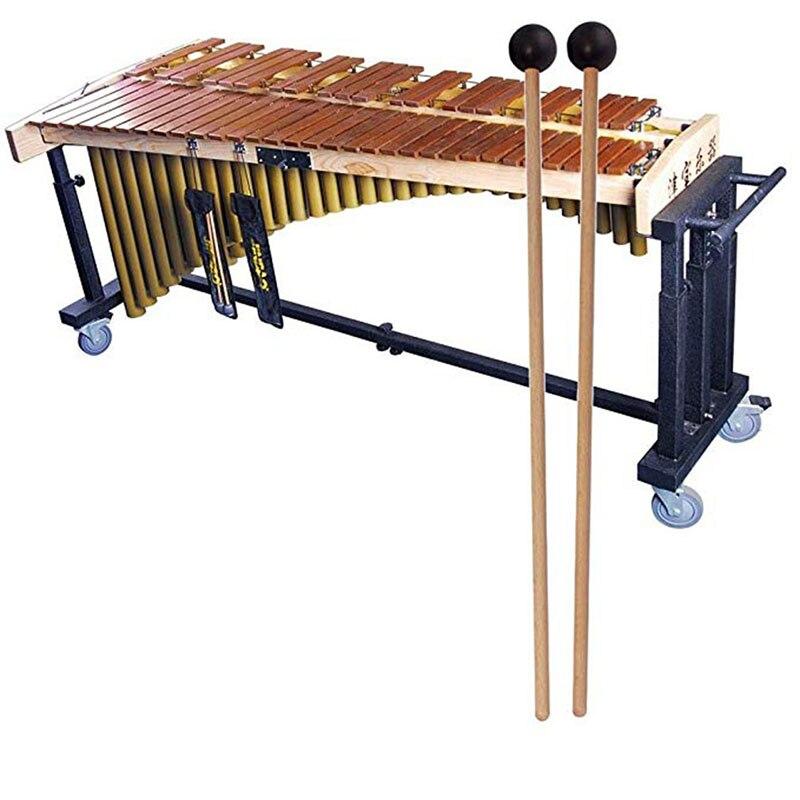 1 пара деревянная перкуссия палочки Профессиональный ударные инструменты Ксилофоны маримба молотки деревянные кресты, католические крест...