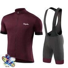 Camisa de ciclismo 2019 pro equipe raudax men conjunto ciclismo corrida bicicleta roupas terno respirável mountain bike sportwears