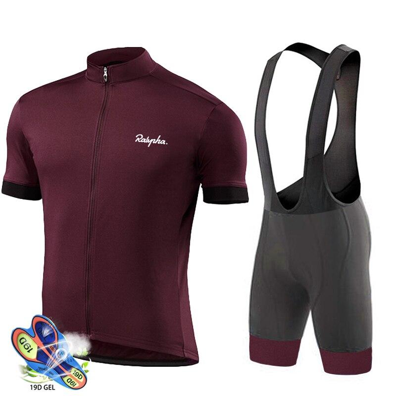 Koszulka kolarska 2019 Pro Team Raphaful Men zestaw rowerowy wyścigi rowerowe odzież garnitur oddychająca odzież rowerowa górska odzież sportowa