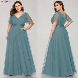Женское вечернее платье Ever Pretty EP07962, длинное платье А-силуэта с треугольным вырезом и коротким рукавом, 2019