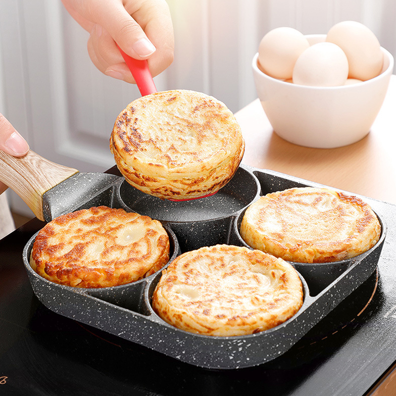 New Four-Hole Non-Stick Omelet Pan