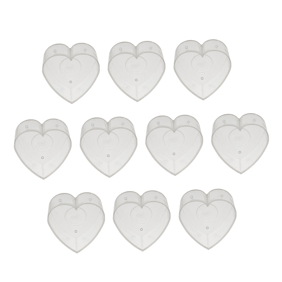 20pcs Clear Tealight Cups Mold Butterfly Heart Diy Scented Candles Accessory Candle Molds Aliexpress