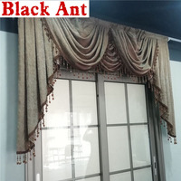 Europe Luxury Curtain head All match Water ripple Window Curtain Valance for Bedroom Living room Drapes Chenille Fabric X818F