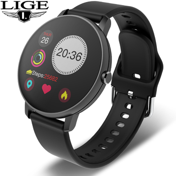 LIGE Sports Smart Watch Men and Women IP67 Waterproof Fitness Tracker Blood Pressure Heart Rate Monitor Pedometer Smart Bracelet