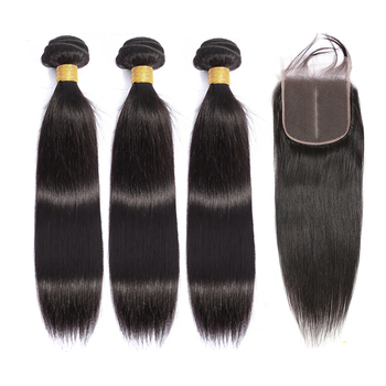 Straight Hair Bundles With Closure Brazilian Hair Weave Bundles With Closure Human Hair Bundles With Closure Hair Extension yyong straight hair bundles with closure brazilian hair weave 3 bundles remy human hair bundles with closure hair extension
