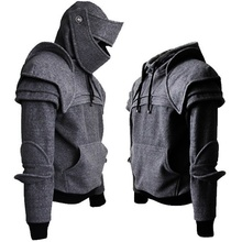 2019 Winter Mens Medieval Style Hoodies Gothic Long Sleeve Men Sweatshirts Halloween Cosplay Costume Duncan Armored Knight Garb