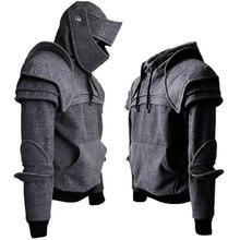 2019 inverno dos homens estilo medieval hoodies gothic manga longa men sweatshirts halloween cosplay traje duncan cavaleiro blindado garb