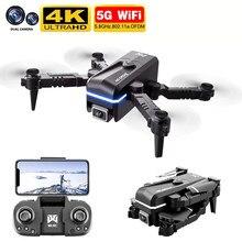 Nuevo KK1 Mini Drone 4K WiFi Fpv Cámara Dual de HD de presión de aire altura mantener plegable RC Quadcopter Drone juguete PK F11 Dron niños