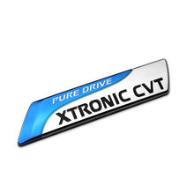 2017 Pure Drive XTRONIC CVT Emblem Badge 3D Car Sticker Decal Car Styling for Nissan Qashqai X-trail Juke Tenna Tiida Sunny Note(China)