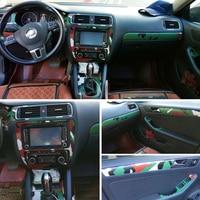 Car Styling 3D/5D Carbon Fiber Car Interior Center Console Color Change Molding Sticker Decals For Volkswagen VW Jetta 2005 2018