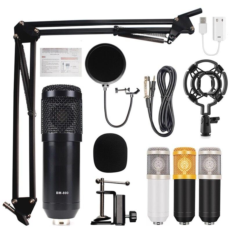 Студийное записывающее оборудование BM 800, конденсаторный микрофон, микрофон в комплекте с BM800 BM-800 для трансляции, караоке, компьютера