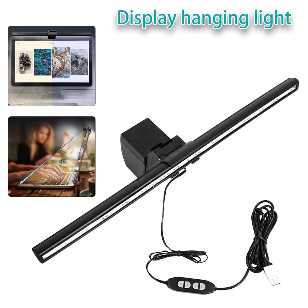 40cm display pendurado lâmpada computador inteligente lâmpada de mesa escritório lâmpada leitura tela proteção para os olhos luz leitura para monitor lcd