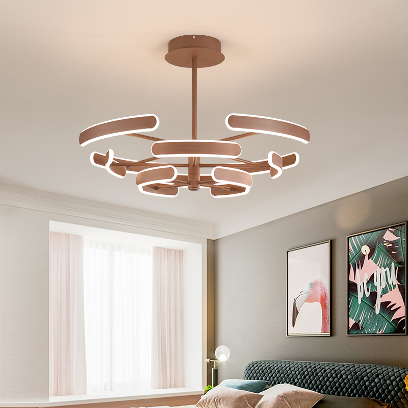 Современная новая лампа для гостиной, современный минималистичный стиль, люстра, скандинавский ресторан, лампа для спальни, роскошная