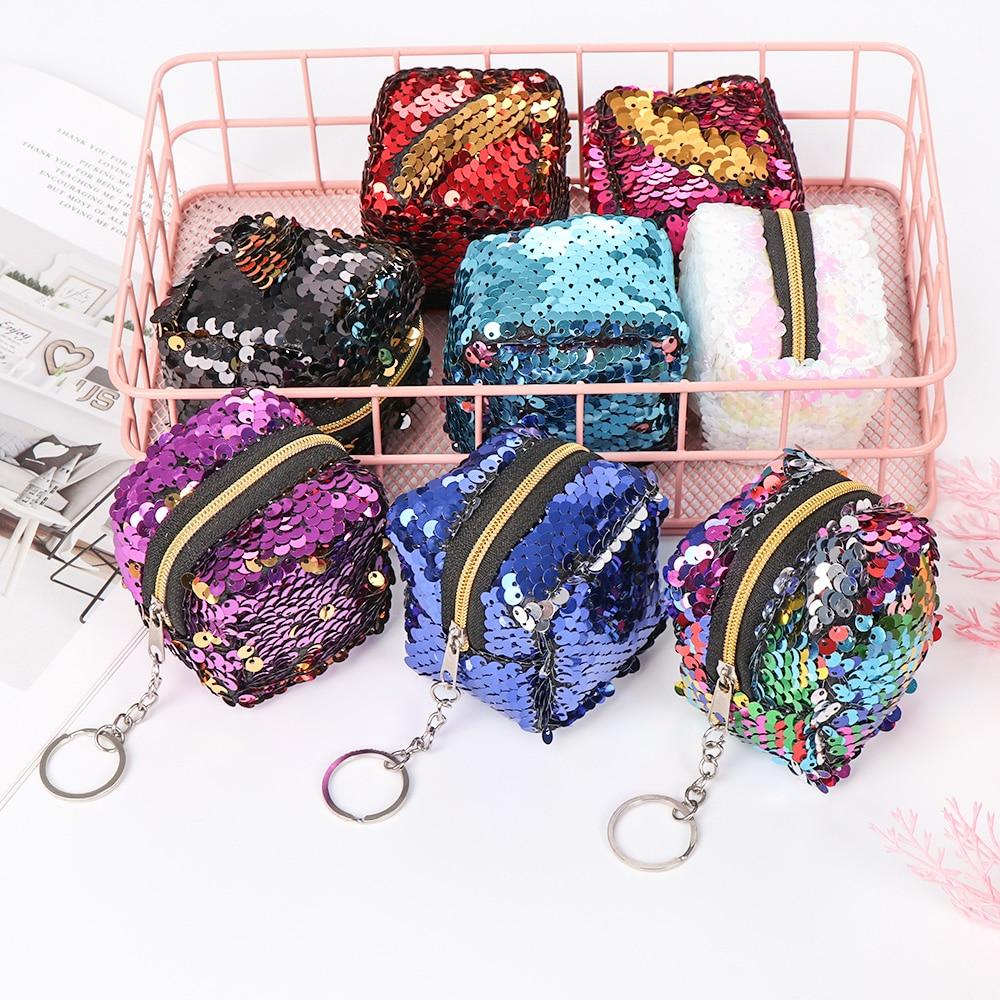 Earphone Bags Girls Bags Sequins Coin Purse Keys Pouch Children/'s Money Change