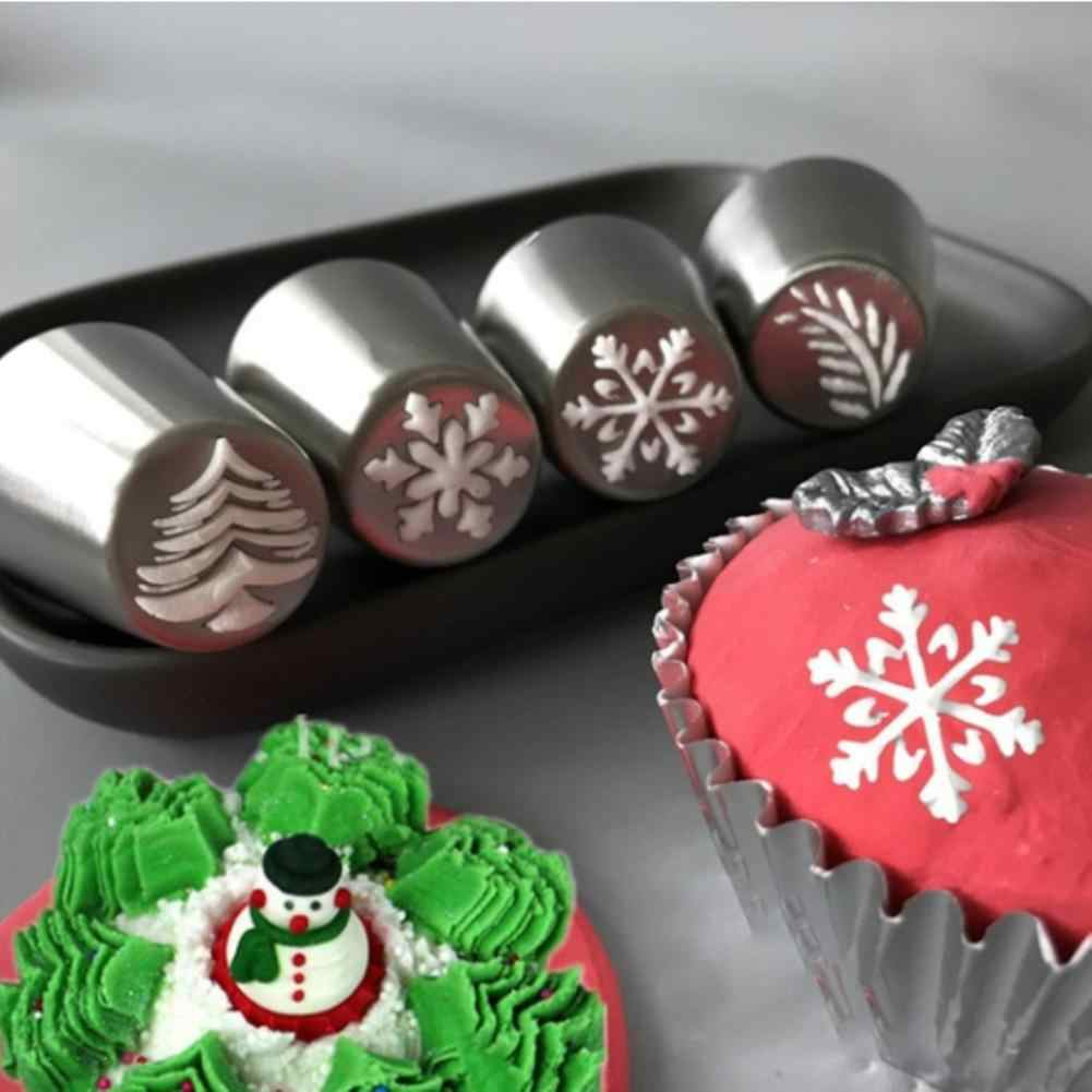 GloryStar คริสต์มาสเค้ก Pastry Tube Mold Icing Piping Nozzle Bakeware เค้กตกแต่งเครื่องมือ