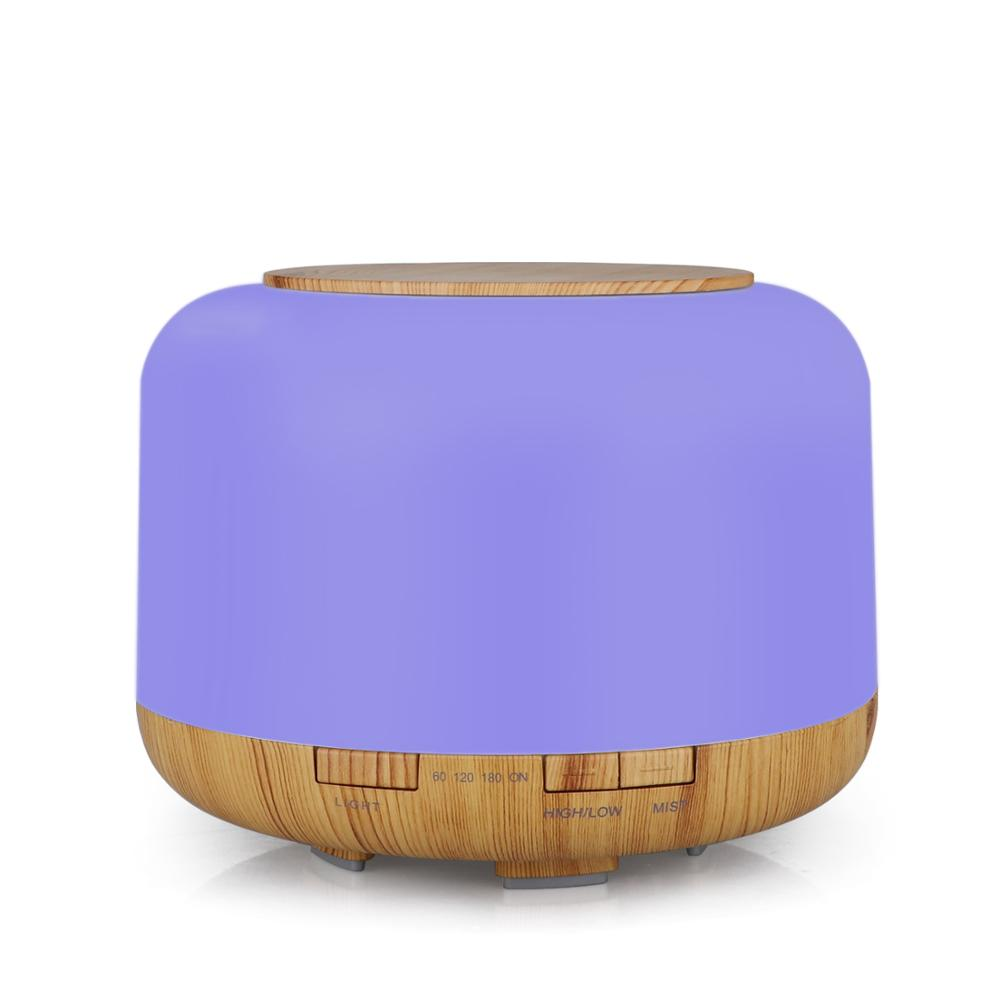 500 ml Wood Grain Aromatherapy Essential Oil Diffuser Ultrasonic Aroma Air Humidifier for Car Room Home Office
