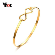 Vnox Infinity Bracelets & Bangles for Women Jewelry Gold-color Trendy Bracelet Femme Party Gift(China)