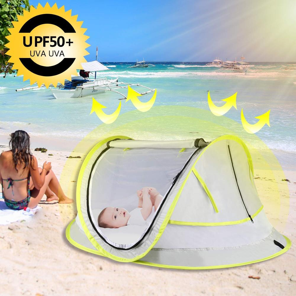 Baby Beach Tent Portable Pop Up Tent UPF 50+ Sun Shelters Baby Shade With Mosquito Net Sun Shade Beach Umbrella For Infant