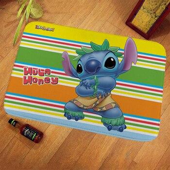 40x60/60x90/70x140cm Disney Stitch Doormat Kids Playmat Home Decor 100% Polyester Pattern Door Mat Floor Mat Foot Pad symmetrical pattern door mat
