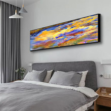 DDWW Big Wall Art Posters Large Size Abstract Colored Clouds Canvas Painting Wall Art Poster Prints Painting Home Decor No Frame