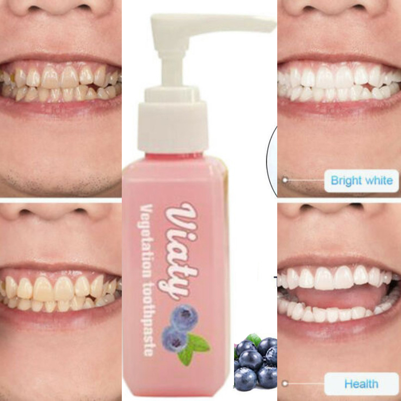 30ML Pressed Toothpaste Stain Removal Whitening Blueberry Toothpaste Fight Bleeding Gums Teeth Whitening Tool Pasta De Dientes
