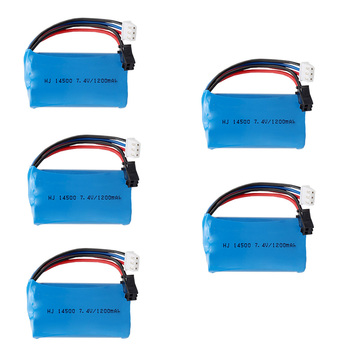 14500 Li-ion Battery For Electric Toys Water Bullet Gun Spare Parts 2S 7.4V 1200mah high capacity Lipo Battery for RC toy 1-5PCS image