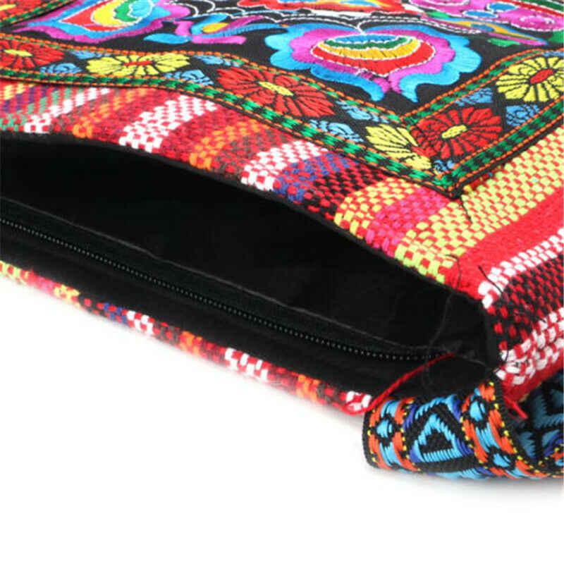 2020 neueste 2 Farben Hmong Vintage Ethnische Schulter Tasche Stickerei Boho Hippie Quaste Tote Messenger Ethnischen Stil Stickerei Tasche