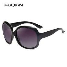 FUQIAN Brand Design Elegant Polarized Oversized Round Sunglasses Women Simple Fashion Big Plastic Ladies Sun Glasses UV400