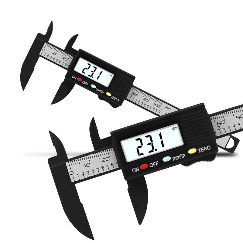 0-100mm eletrônico digital vernier caliper calibre ferramenta de medição calibre para medição de jóias digital régua trammel