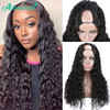 Asteria U Part Wig Water Wave Human Hair Wigs For Black Women 150% 180% Density Brazilian Human Hair Wig Glueless Remy Hair Wigs