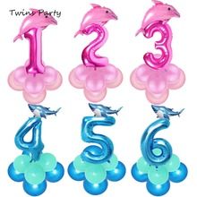 Twins Birthday Sharknado Balloons Shark Baby Theme Sea Animals Theme Number 1 2 3 4 5 6 Amazing Shark Themed Shark Toy Balloons