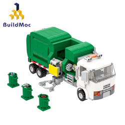 MOC60118 Creative Series City Garbage Sorting Transport Truck Model Building Blocks Toys Trash Truck For Children Christmas Gift