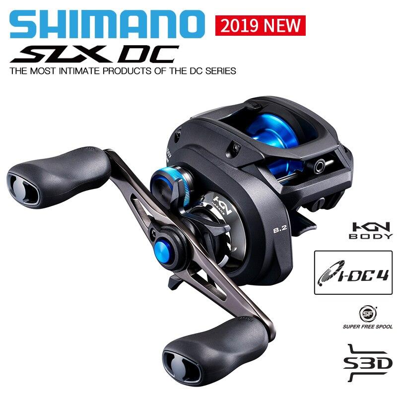 SHIMANO SLX DC Baitcast pêche Reels150/151/150HG/151HG/150XG/151XG 4 + 1BB rapport de vitesse 6.3: 1/7. 2:1/8.2: 1 moulinet de pêche à profil bas