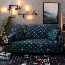 Sillón en forma de L funda de sofá elástico Vintage rejilla Single Love 3 4 plazas esquina seccional cubierta elástica de sofá para sala de estar