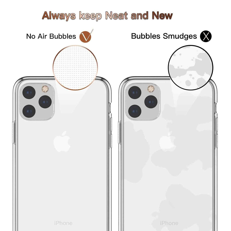 """Apple の Iphone 11 プロマックス iphone 11 6.1 """"ケース、 WEFOR スリムクリアソフト Tpu カバーサポートワイヤレス充電 11 プロ"""