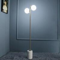 marble floor lamp floor light E27 floor light decoration lighting double white glass shade brass color simple design lighting