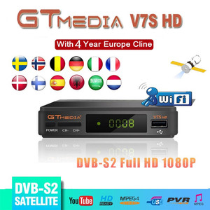 Image 1 - Tây Ban Nha Giao hàng Vệ Tinh TRUYỀN HÌNH Gtmedia V7S HD Thụ Thể Hỗ Trợ Châu Âu Cline cho DVB S2 Youtube FULL HD 1080P Freesat v7 HD