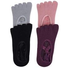 Women Yoga Anti-slip Socks Backless Silicone Non-slip Socks Ballet Dance Gym Fitness Pilates Socks 1 Pair