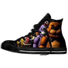 2019 hot moda Fnaf 3D obuwie dla mężczyzn kobiet wysokiej jakości Harajuku 3D drukowanie Fnaf brezentowych butów tanie tanio BONJEAN Płótno Przypadkowi buty Lace-up Pasuje prawda na wymiar weź swój normalny rozmiar Podstawowe Wiosna jesień