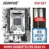 JGINYUE X99 Motherboard LGA 2011-3 set kit with 16GB 2*8GB DDR4 RAM XEON E5-2620 V3 Processor NVME M.2 SATA 3.0 X99M-PLUS D4 1