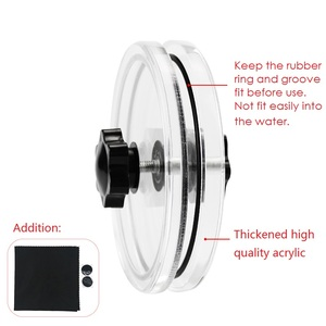 Image 2 - LP Vinyl Record Cleaner Clamp Record Label Saver Protector Waterproof Acrylic Clean Tool With Cleaning Cloth